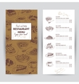 hand drawn food Restaurant vector image vector image