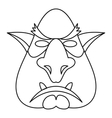 Head of troll icon outline style vector image vector image