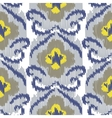 Ikat ogee seamless pattern vector image vector image