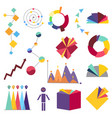 infographic elements collection analysis data vector image vector image