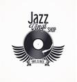 jazz vinyl record retro background vector image
