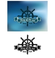 King Of The Sea marine emblem or badge vector image vector image