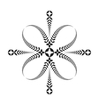 Laurel wreath tattoo Cross Stylized black vector image vector image