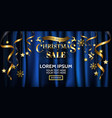 luxury christmas sale banner design for poster vector image vector image
