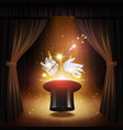 Magic Trick Background vector image
