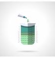 Measuring labware flat color design icon vector image vector image
