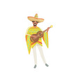 mexican musician in traditional national clothes vector image