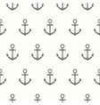 Nautical theme Seamless pattern with anchors vector image vector image