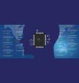 neuralink technology concept bionic human brain vector image vector image