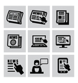 newspaper icons vector image vector image