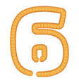 number six bread icon cartoon style vector image
