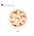 Om Ali or Puff Pastry with Nuts and Whipped Cream vector image vector image