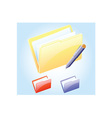 Open file icon vector image vector image