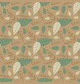 pastel seamless floral pattern with cartoon leaves vector image vector image