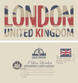 postcard with flag of great britain vector image vector image
