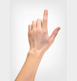 realistic 3d silhouette of hand with an index vector image vector image