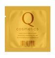 Realistic Gold template Packaging vector image vector image