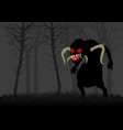 scary monster in dark woods vector image vector image