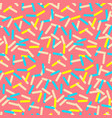 seamless pattern of pink donut glaze with many vector image