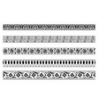 set decorative seamless ornamental border vector image vector image