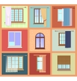 Set of high quality various Vintage Windows with vector image