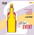 template for wine festival event or menu covers vector image vector image