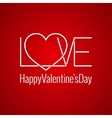 Valentines Day Card Love Concept Design Background vector image
