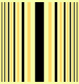vertical black and beige stripes print vector image vector image