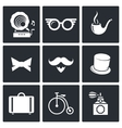 Vintage Hipster Icons set vector image