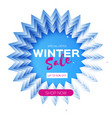 winter sale origami layered frame in paper art vector image vector image