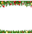 xmas firtree frame vector image vector image