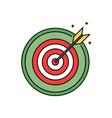dartboard with bullseye retro circle icon success vector image