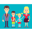 Happy family art vector image