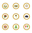 monster icons set cartoon style vector image