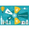 Around The World infographic flat vector image