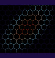 abstract hexagons background vector image vector image