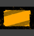 abstract yellow and black grunge style background vector image vector image