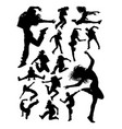 attractive modern dancer silhouettes vector image vector image
