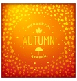 Autumn lettering label design vector image vector image
