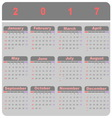 Beautiful demo 2017 calendar template vector image vector image