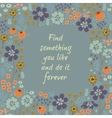Beautiful floral frame vector image vector image
