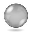 Big black opaque glass sphere vector image