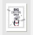 big christmas sale promotion vector image vector image