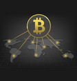 bitcoin payment system vector image vector image