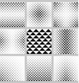 Black and white triangle pattern design set vector image vector image