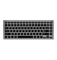 black keyboard for laptop or computer on checkered vector image