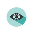body senses vision eye icon with shade on green vector image vector image