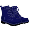 boots blue isolated on white vector image vector image