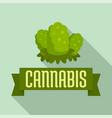 cannabis seed logo flat style vector image