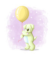 cartoon cute dog with balloon vector image vector image
